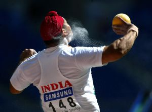 ASIAD-ATHLETICS-SHOT PUT-IND-SINGH-ACTION